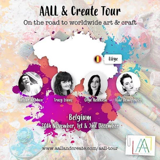 AALL and Create Belgium classes - mixed media canvas