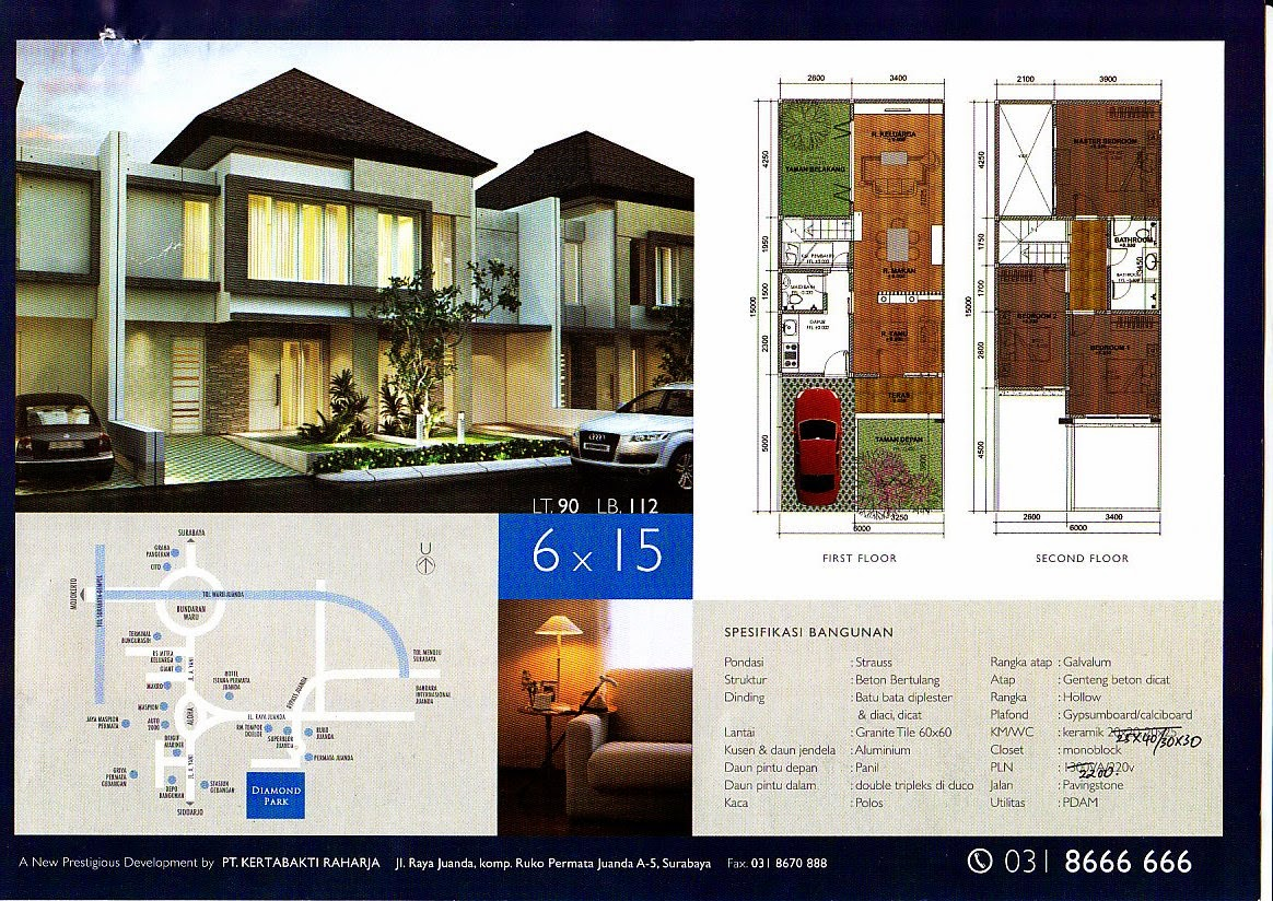 Desain Rumah Minimalis 2 Lantai 6 X 15 Gambar Foto Desain Rumah
