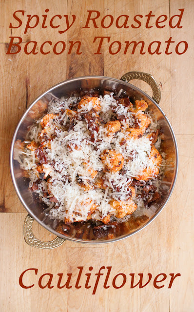 Food Lust People Love: The rich garlicky sun-dried tomato pesto adds a lovely flavor to the cauliflower as it roasts in a little bacon fat. A generous sprinkling of crispy bacon and Parmesan finish this dish to perfection. This one is a side dish that wouldn't mind taking center stage.