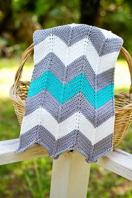 Chevron Baby Blanket Iknits