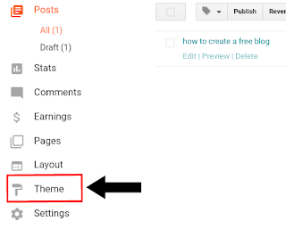 How to upload the blogger theme from mobile.