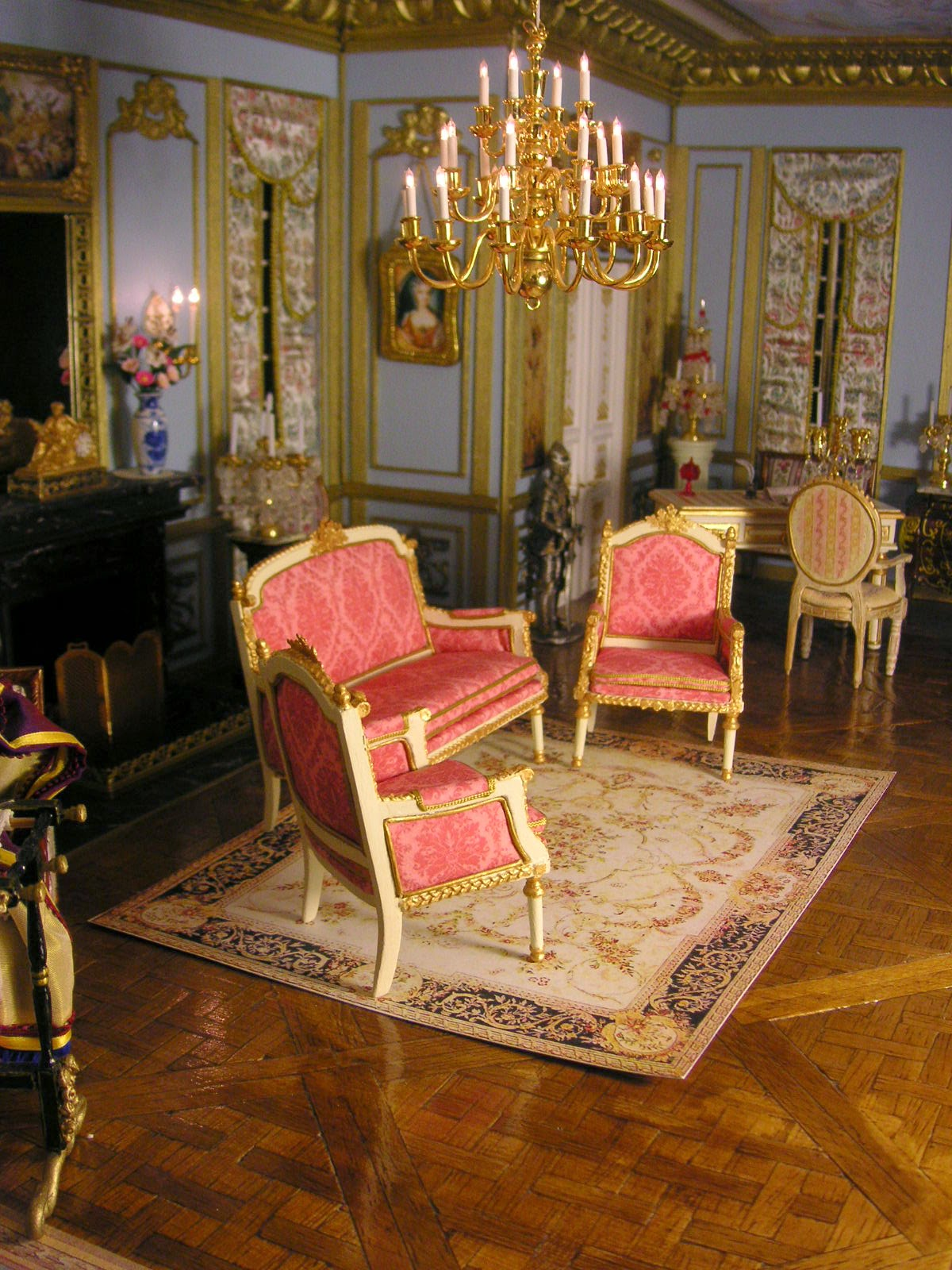 ensemble de salon complet inspiration louisxvi. Black Bedroom Furniture Sets. Home Design Ideas