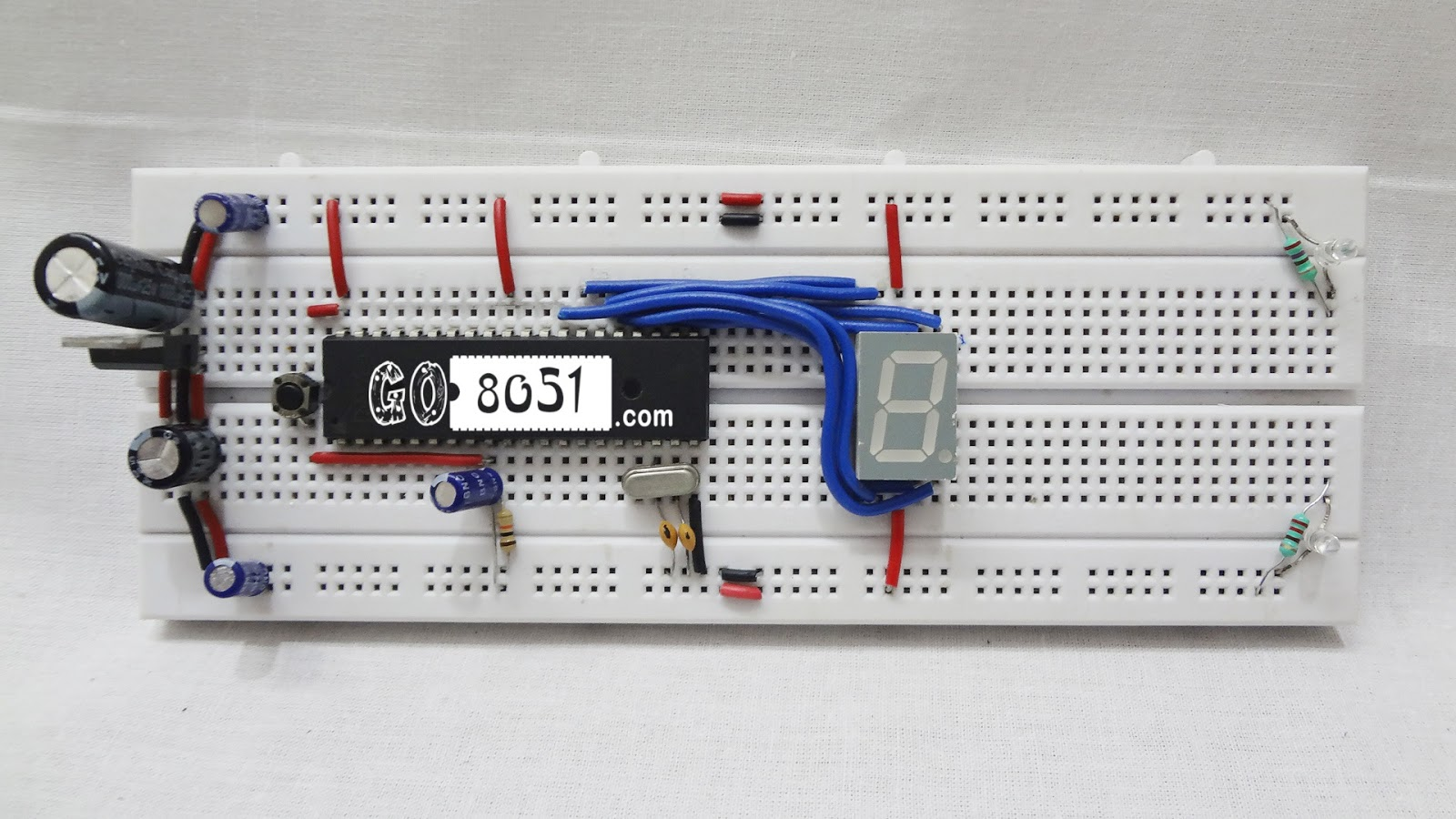 small resolution of make sure you cross check the connection from the circuit diagram and below given bread board connection