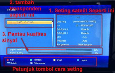 Cara Tracking Ninmedia Satelit Chinasat 11