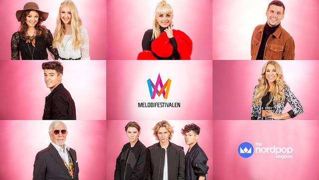 Participantes de la tercera semifinal del Melodifestivalen 2017