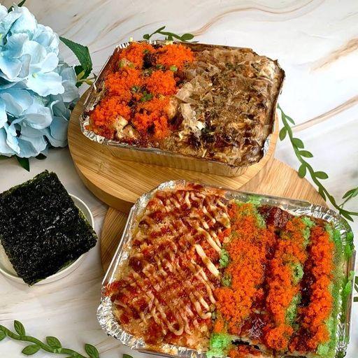 Salmon HQ sushi bake using cauliflower rice