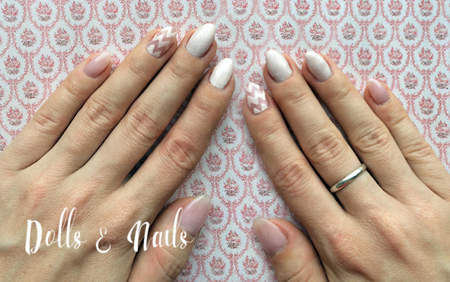 Pink Zigzag Manicure by Dolls & Nails