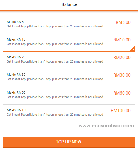 Lazada Mobile Prepaid Top Up