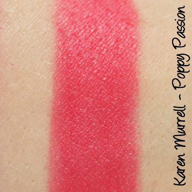Karen Murrell - Poppy Passion Lipstick Swatches & Review
