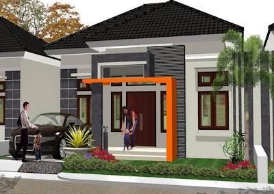 inspirasi gambar desain rumah minimalis tipe 54 - desain