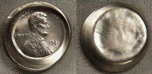 Numismatic Errors: Error Showcase: 1981 Lincoln Cent Die Cap