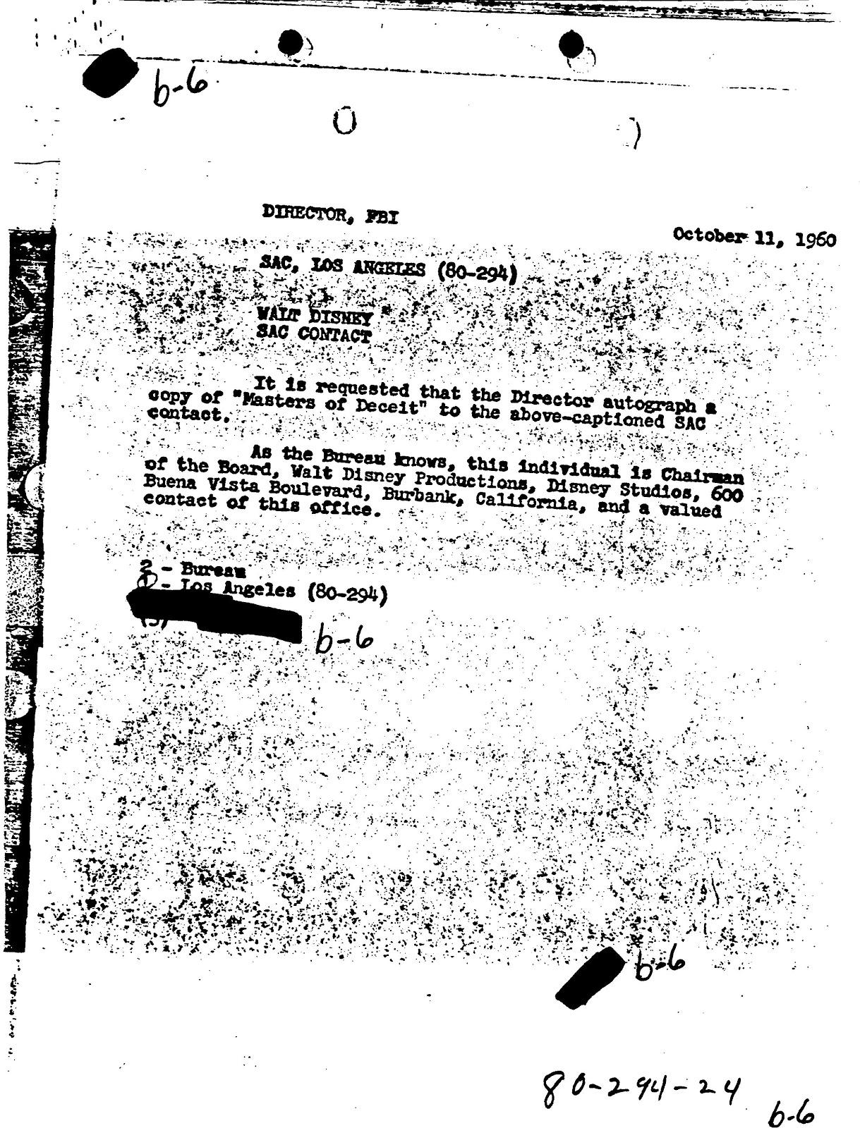 Walt Disney's FBI File: Part 2