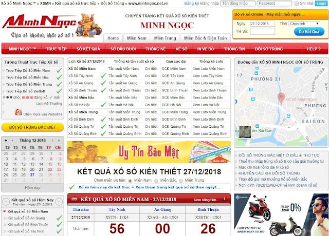 Website minhngoc.net.vn