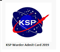 KSP Warder Admit Card