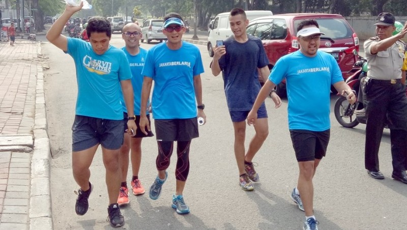 Sandiaga Uno ikut acara Jakarta Berlari