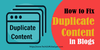 blogger-me-duplicate-content-kaise-fix-kare