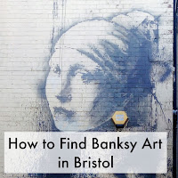 Banksy work 'The Girl with the Pierced Ear Drum', with title overlaid.