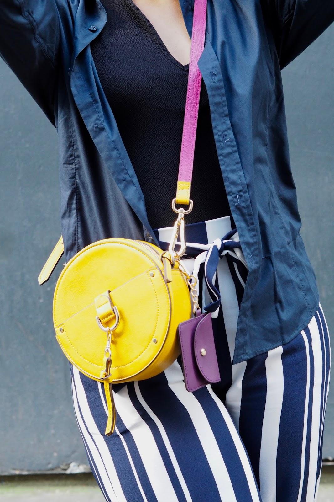 Accessorize Round Mustard Handbag