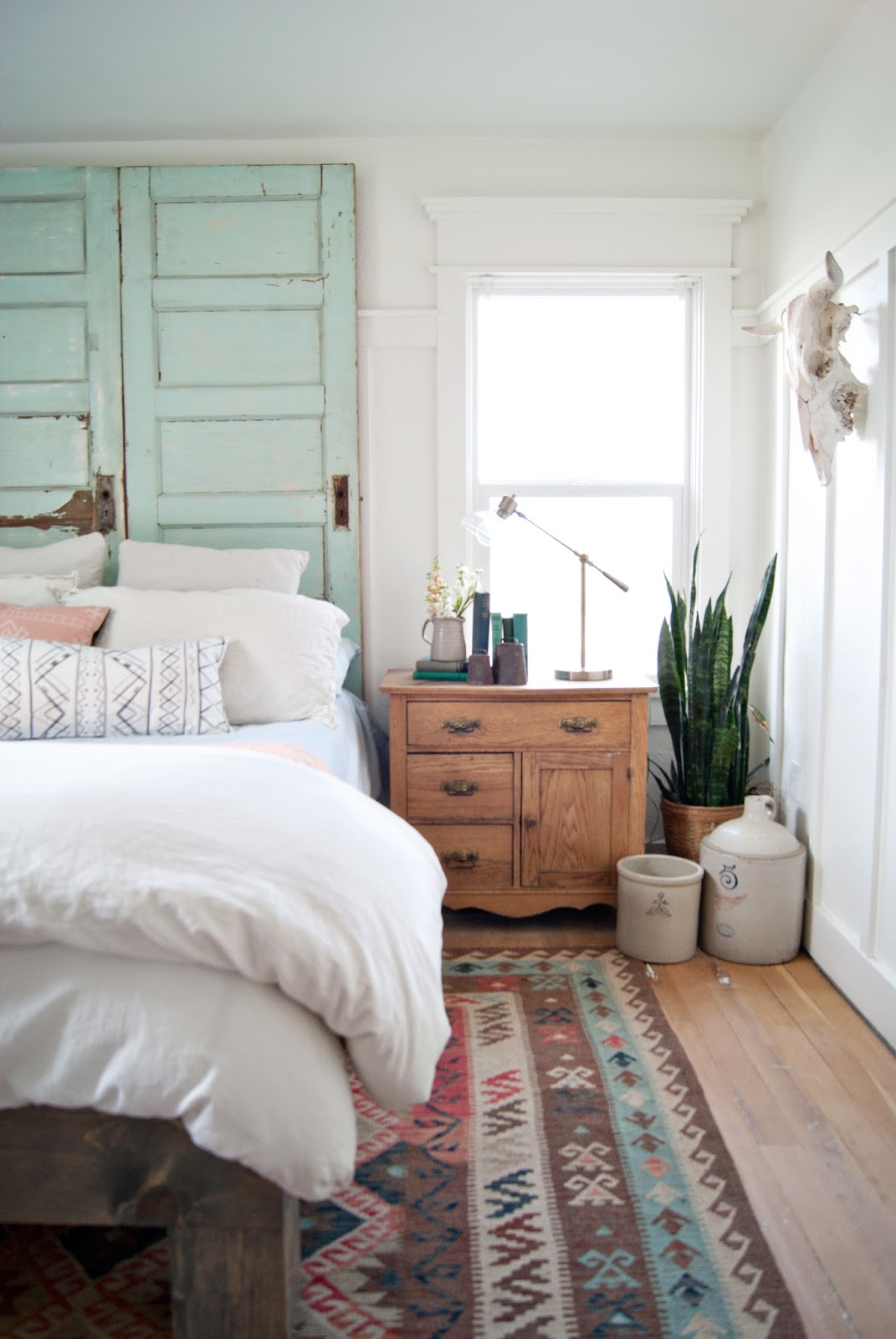 Farmhouse master bedroom in country living magazine for Farmhouse master bedroom