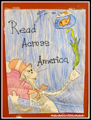 Read Across America Poster Hand Drawn at RainbowsWithinReach