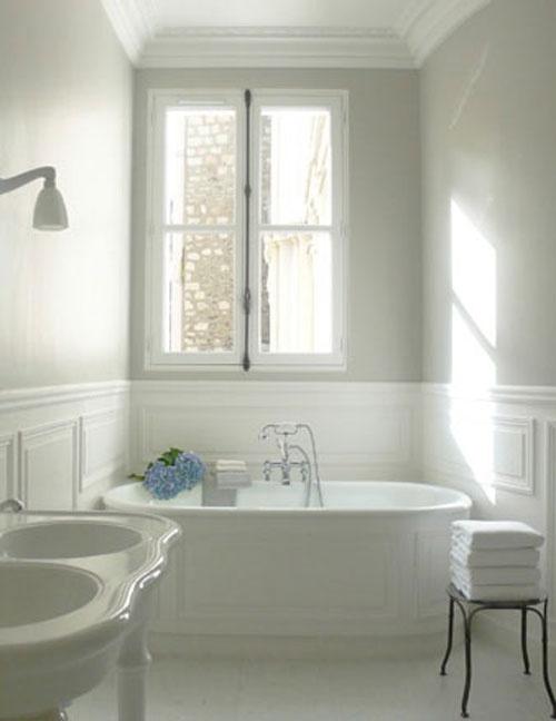 Cuartos de baño vintage: blanco | Pompas de Ideas