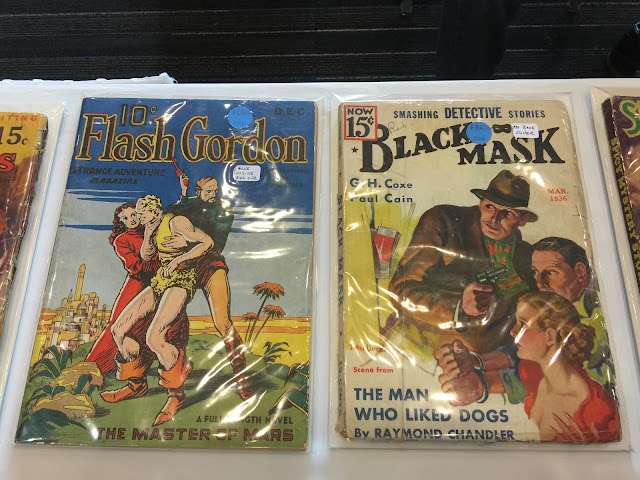 Flash Gordon magazine/comic hybrid and a Black Mask with a Raymond Chandler story