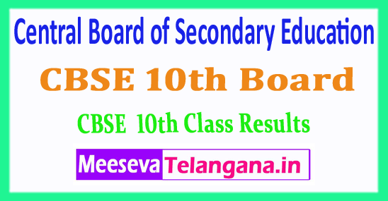 CBSE 10th Board Central Board of Secondary Education 10th Results 2018