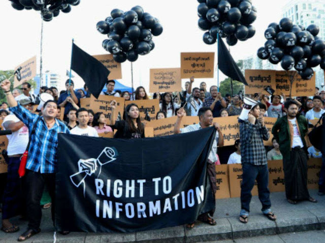 Dozens rally for jailed Reuters reporters in Myanmar