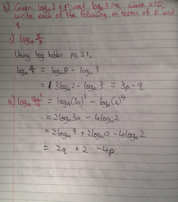 Leaving Cert Project Maths Paper 1 Solutions 6