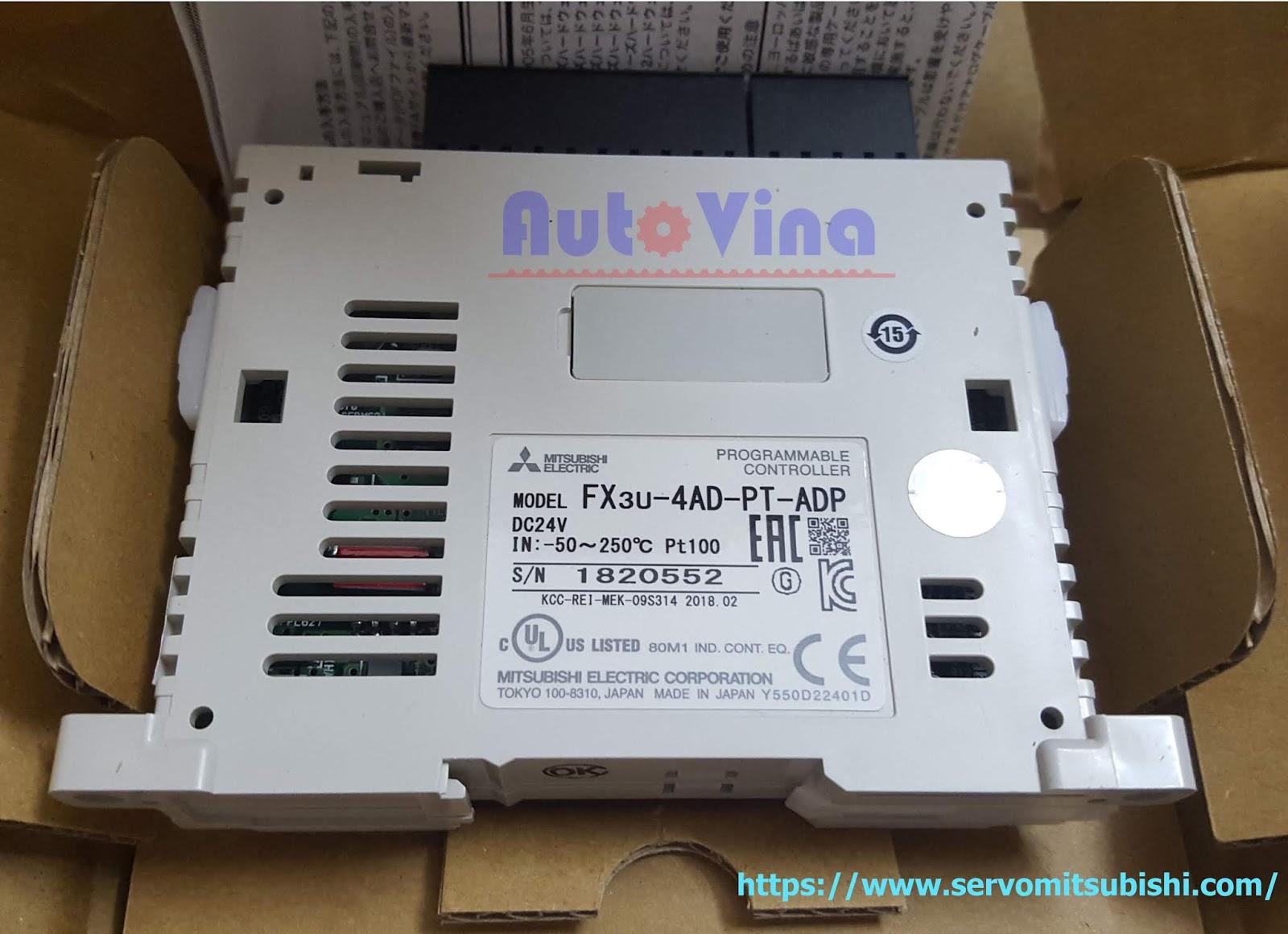 Module mở rộng ngõ vào PT100 temperature cho PLC Mitsubishi FX3U-4AD-PT-ADP