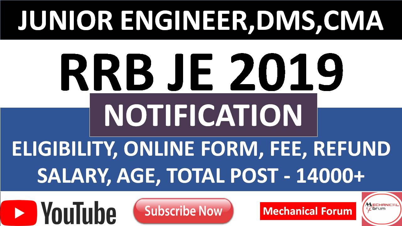 RRB JE Recruitment 2018-19, Download Notification for Junior