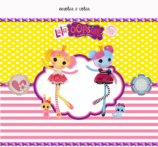 Lalaloopsy  Free Printable Birthday Labels.
