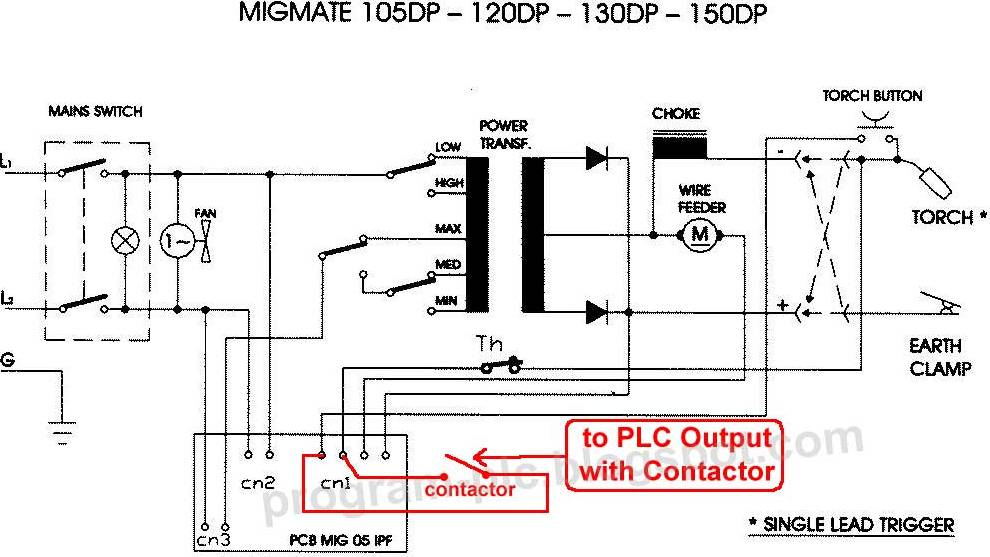 plc control for automatic welding machine, wiring diagram