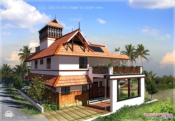 Eco Friendly Houses Kerala Traditional Home In 2000 Square Feet