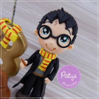 Topo de bolo com vela Harry Potter - decoração para festa Infantil - Paty's Biscuit