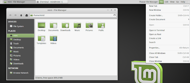 Global Menu Linux Mint Vala Panel AppMenu
