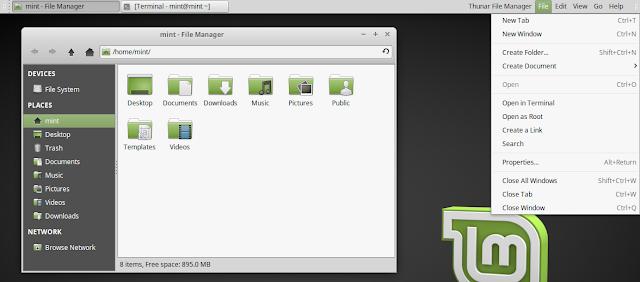Global Menu Linux Mint Vala Panel AppMenu
