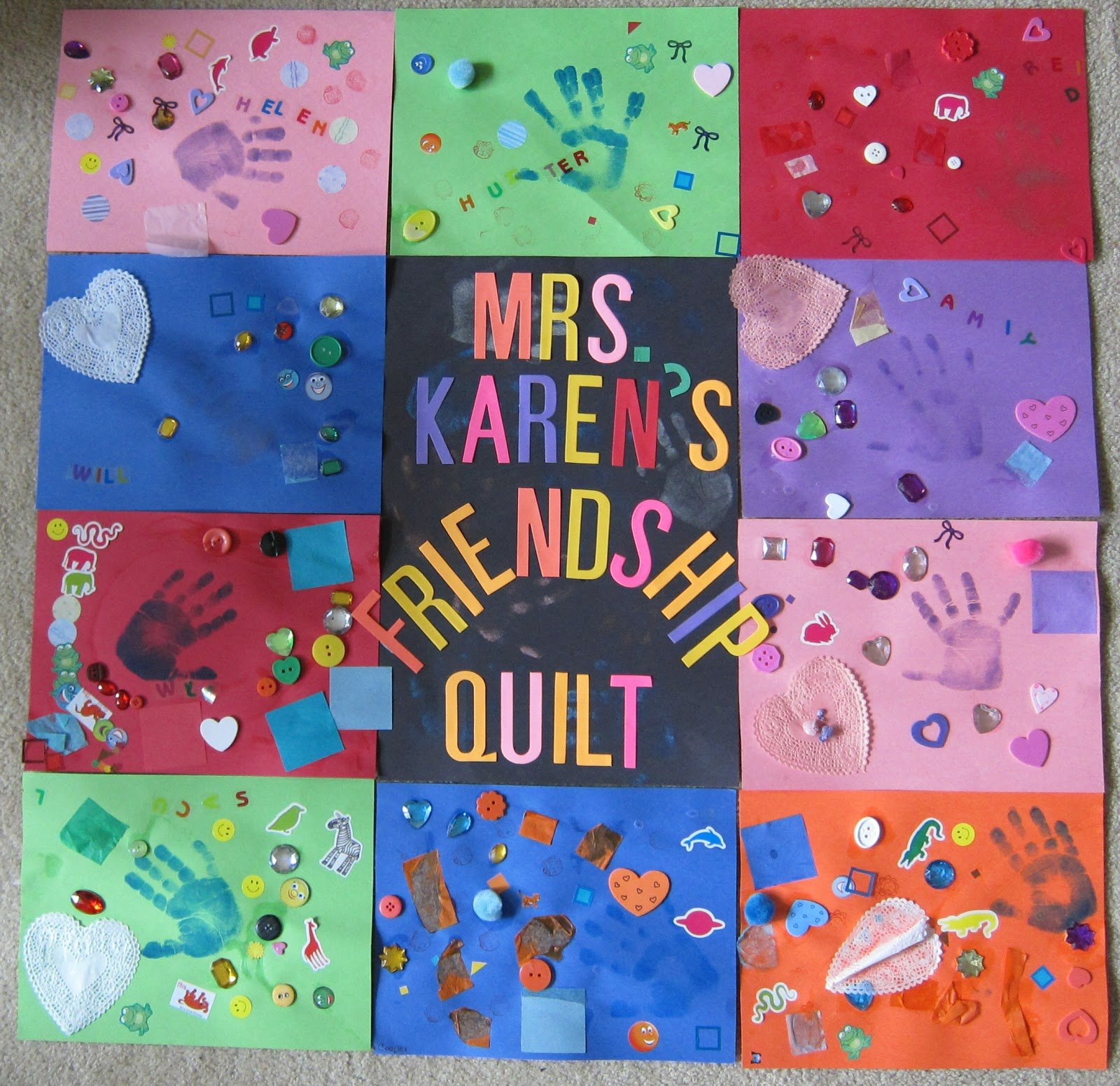 Mrs. Karen's Preschool Ideas: Q is for Quilt