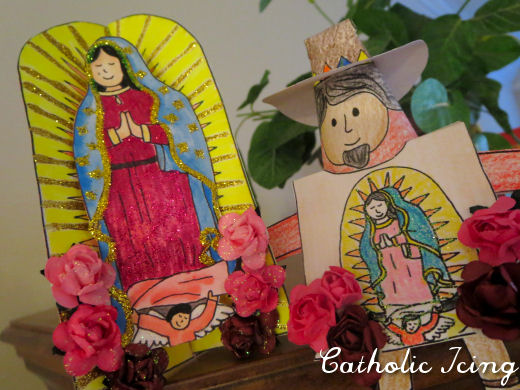 Christian study tools and art our lady of guadalupe for Our lady of guadalupe arts and crafts