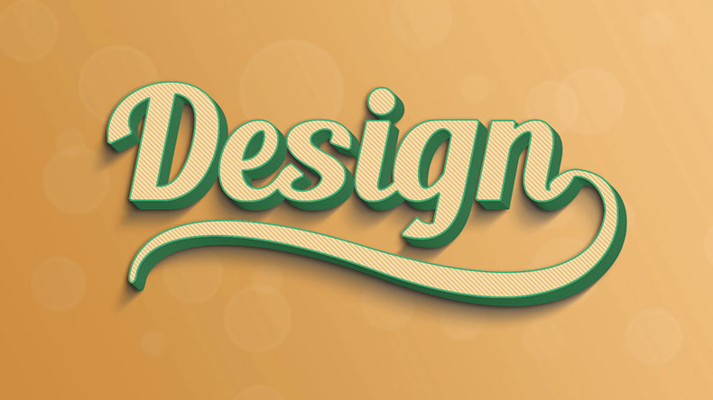 Free 3D Text Effect PSD