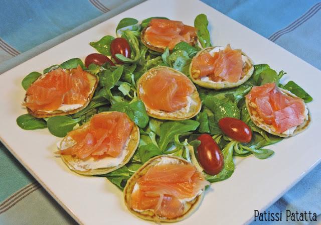 blinis, blinis saumon fumé, comment faire des blinis, recette de blinis, blinis frais, blinis fait maison, salade saumon fumé et blinis