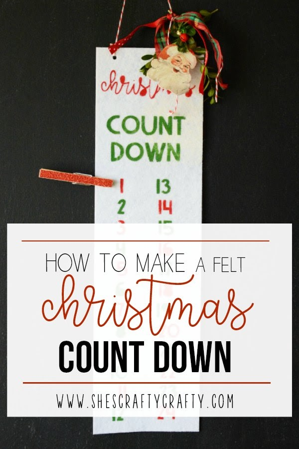 how to make a felt Christmas Countdown, vintage inspired