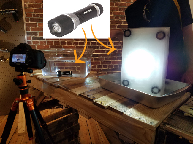 Hysky umbreakable flash light goes in the water, ice, under a car and still works