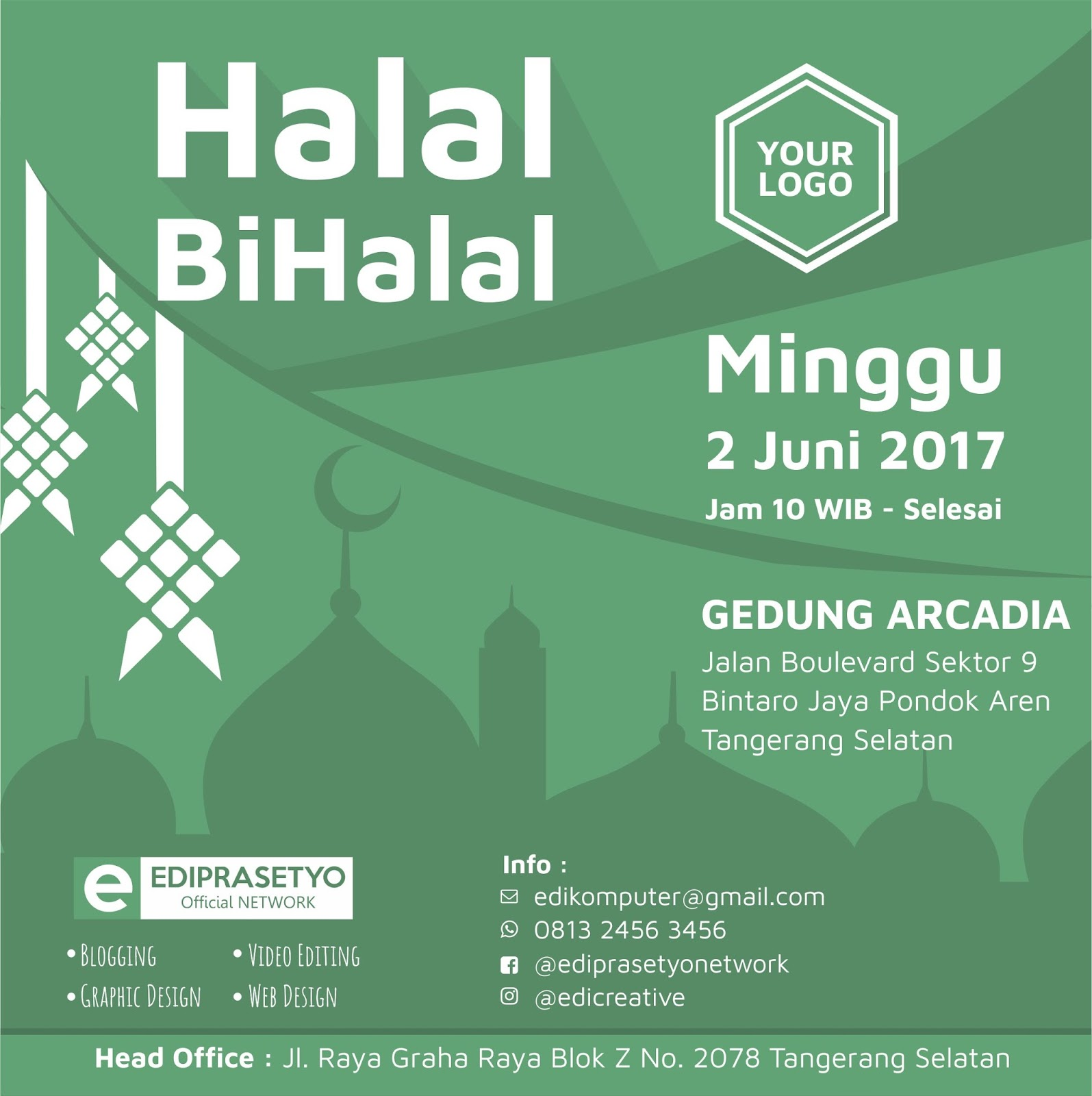 Download Desain Poster Halal Bi Halal 2017 Gratis Edi Prasetyo