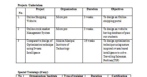 curriculum+vitae+tabular+format Tabular Curriculum Vitae on