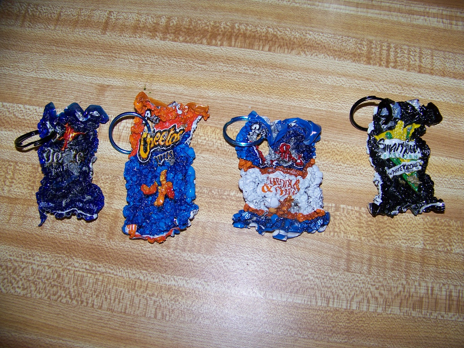 Making Cooley Stuff Chip Bag Shrinky Dink Key Chains