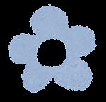 小さな花のイラスト「パステル・青」