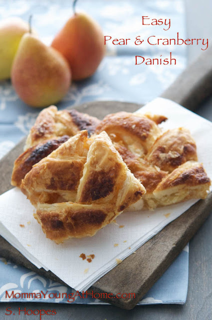 Pears and Cranberries in an Easy Danish Recipe