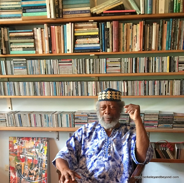 artist LeRoy Clarke in his library at LeRoy Clarke home in Port of Spain, Trinidad