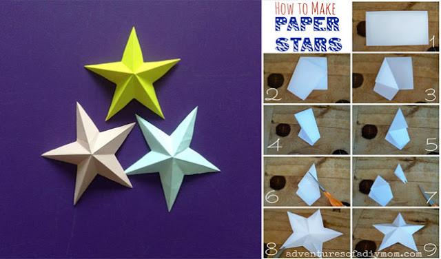 Cara Membuat Bintang dari Kertas Origami